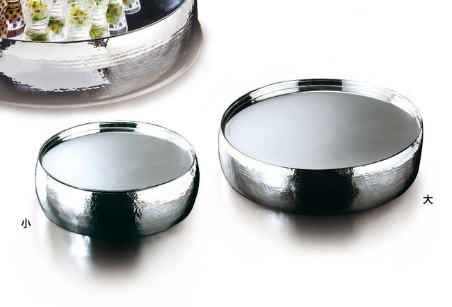ステンレス槌目 太鼓型盛器 大 (W23950) (ビュッフェ/ガラス・陶器オードブル盛器)