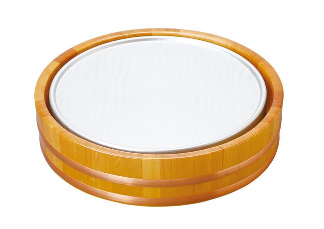 クーリングプレート(ラウンド)桶セット (W30422) (ビュッフェ/ガラス・陶器オードブル盛器)