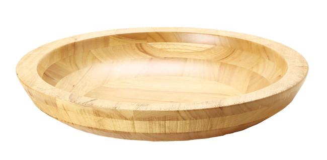 荒彫・惣菜くり鉢(浅型) ナチュラル 大 (W45462) (店舗什器・店舗備品/くりぬきバット・惣菜くり鉢)
