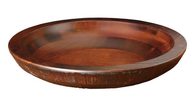 荒彫・惣菜くり鉢(浅型) ブラウン 大 (W45465) (店舗什器・店舗備品/くりぬきバット・惣菜くり鉢)