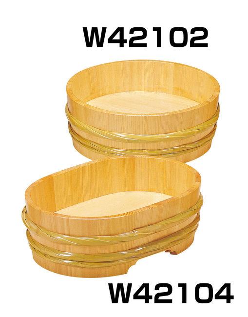 サワラ・竹 飾桶 (クリアー) [W42102](店舗什器・店舗備品/飾り桶・飾り樽)