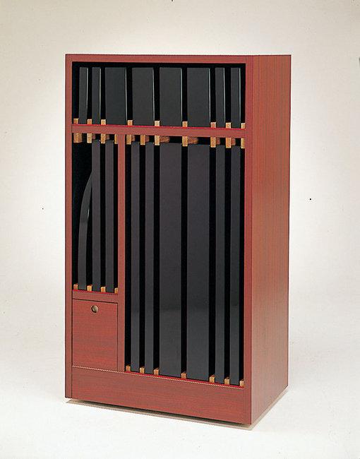 【送料無料♪】ベースプレート収納ワゴン (W36513) (店舗什器・店舗備品/屋台風販売台・ディスプレイ什器)