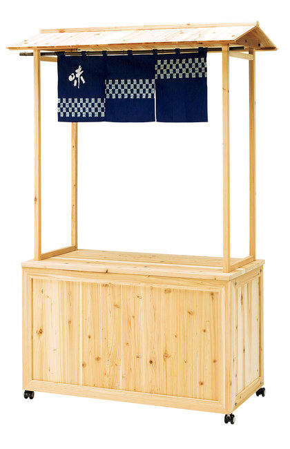 【送料無料♪】屋台販売台 ブレイ君 (W52654) (店舗什器・店舗備品/屋台風販売台・ディスプレイ什器)