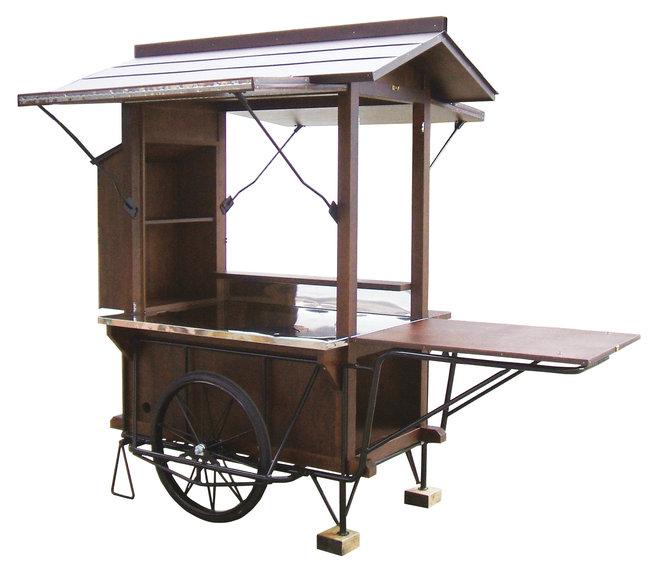 【送料無料♪】リヤカー屋台 [W52690](店舗什器・店舗備品/屋台風販売台・ディスプレイ什器)