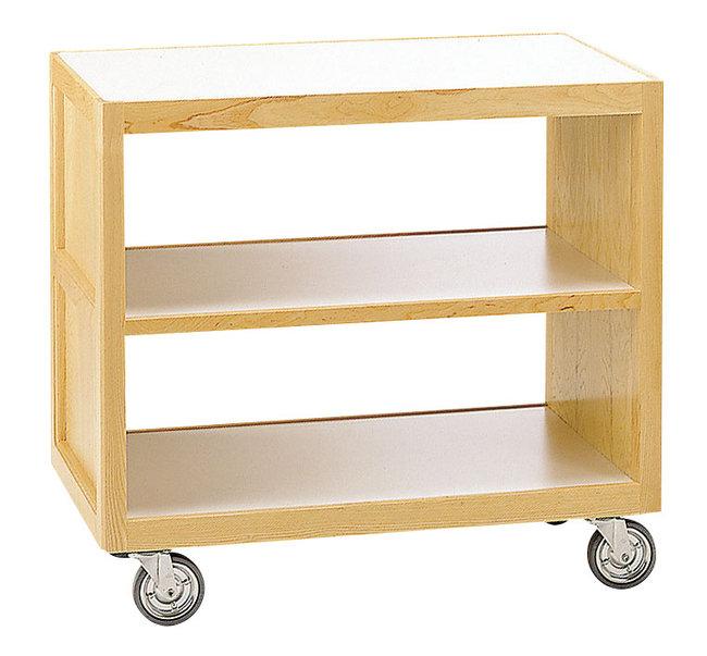 【送料無料♪】サイドテーブルワゴンC(クリアー) (W45313) (店舗什器・店舗備品/サービスワゴン)