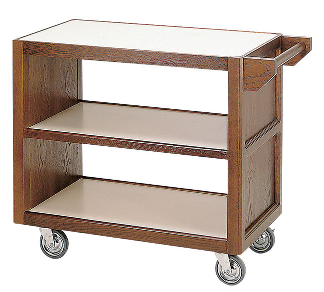 【送料無料♪】サイドテーブルワゴン(手付) (W45320) (店舗什器・店舗備品/サービスワゴン)