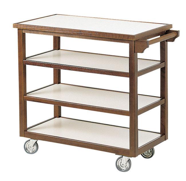【送料無料♪】4段テーブルワゴン(手付) (W45324) (店舗什器・店舗備品/サービスワゴン)