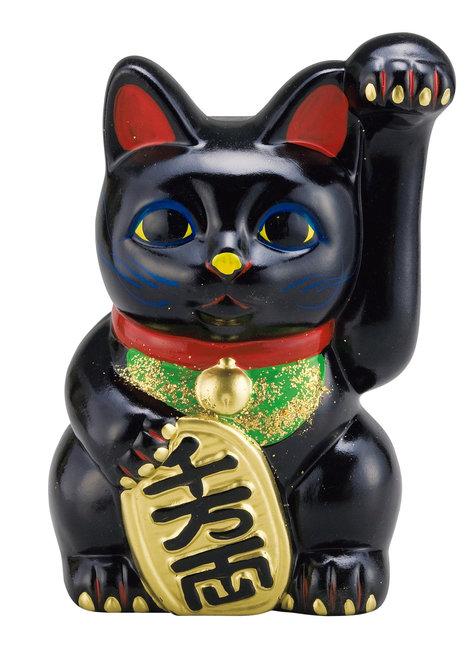 【 開梱 設置?無料 】 招き猫 招き猫 黒 黒 10号 10号 [W56666](店舗什器・店舗備品/縁起物), Happy×Hunter:d628da7f --- nba23.xyz