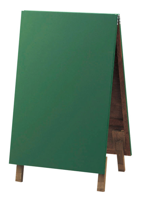 両面スタンド型ボード (チョークタイプ) グリーン [W48441](スタンド看板・サイン/メッセージボード・イーゼルスタンド)
