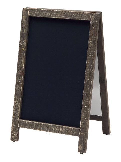新A型看板 アージュ 黒 [W49444](スタンド看板・サイン/メッセージボード・イーゼルスタンド)