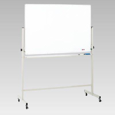 【送料無料♪】片面回転ホーローホワイトボード脚付 900×1200mm (店舗用品/バックヤード備品/脚付ホワイトボード)