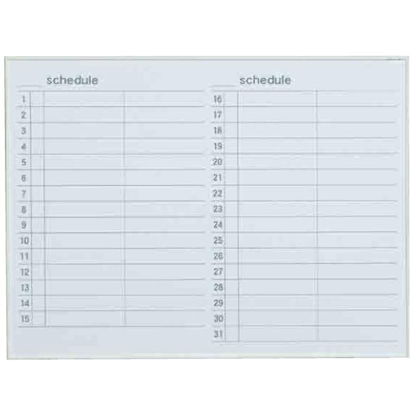 【送料無料♪】ホワイトボード MRシリーズ (壁掛) スケジュール MR34Y 板面寸法 W1210×H910 (店舗用品/バックヤード備品/予定表ホワイトボード)