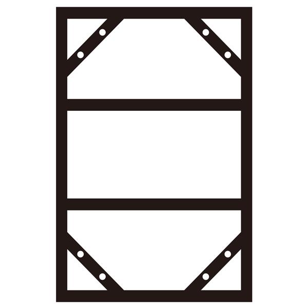 300×600mmの明治山型の危険物標識などを連結掲示する際にご使用ください 専用ポールを使用することで.... 送料無料 300×600mm明治山型標識用 連結掲示用スチール枠 スライドアングル サイズ:910×605mm KHY-3SA 055300 消防 即日出荷 看板表示用アングル 防災 防犯標識 ポール 表示 お買得