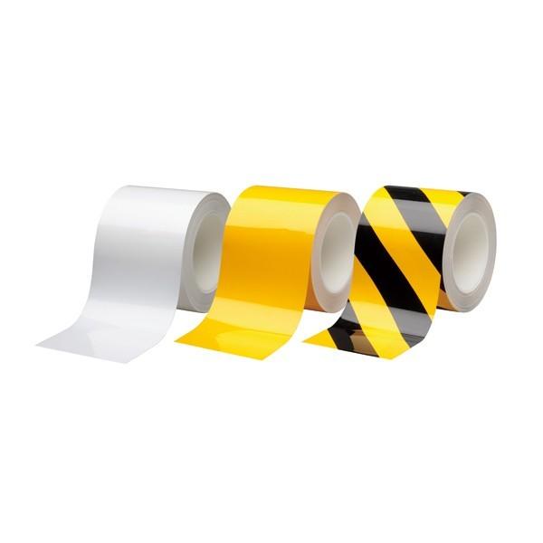 キズや汚れがつきにくく 簡単に汚れが落ちます 破れにくく 丈夫で高光沢を維持します 抗菌 防..... ハイクオリティ 送料無料 ラインテープ 滑り止めテープ カラー:黄 100mm幅×20m ビバスーパーラインテープ 各種テープ メーカー公式ショップ 黒