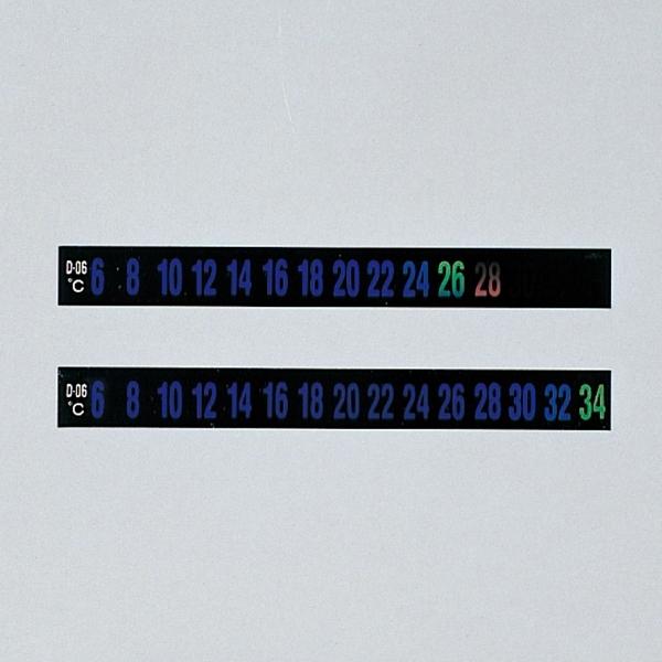 【送料無料♪】デジタルサーモテープ 10mm幅×92mm 30枚入 温度範囲:-6~14度 (各種テープ/その他機能テープ)