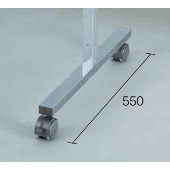 アルミポール32 三面用 キャスター付 対応サイズ:H1500用 (スタンド看板/展示システム・パーテーション)