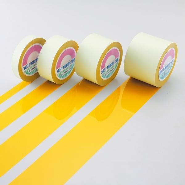 ガードテープ 黄 サイズ:25mm幅×100m (各種テープ/室内(屋内)用ガードテープ/室内区画表示用ガードテープ)