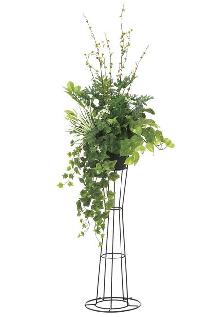 【2019年新商品】【送料無料】グリーンスタンド1.45 (造花) 高さ145cm 光触媒 (906A350)(店舗用品/光触媒 人工観葉植物・造花・フェイクグリーン/フロア(鉢型)用/125~160cm)