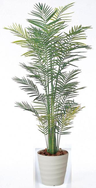 【送料無料】トロピカルアレカパーム (人工観葉植物) 高さ210cm 光触媒 (142A430)(店舗用品/光触媒 人工観葉植物・造花・フェイクグリーン/フロア(鉢型)用/165cm以上)