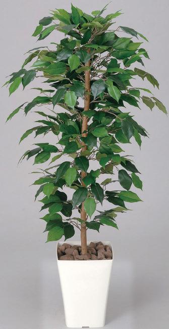 【送料無料】フィカスベンジャミン (人工観葉植物) 高さ120cm 光触媒 (189A170)(店舗用品/光触媒 人工観葉植物・造花・フェイクグリーン/フロア(鉢型)用/125cm未満)