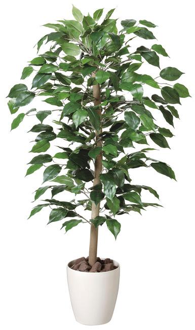 明るい空間の中でグリーンが程良くアクセントになります 送料無料 ベンジャミン 人工観葉植物 送料無料新品 高さ100cm 光触媒 200A150 店舗用品 フロア フェイクグリーン 125cm未満 お求めやすく価格改定 用 鉢型 造花