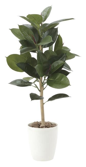 【送料無料】ゴムの木90 (人工観葉植物) 高さ90cm 光触媒 (店舗用品/光触媒 人工観葉植物・造花・フェイクグリーン/フロア(鉢型)用/125cm未満)