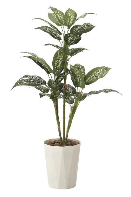 【送料無料】ディフェンバキア90 (人工観葉植物) 高さ90cm 光触媒 (619A120)(店舗用品/光触媒 人工観葉植物・造花・フェイクグリーン/フロア(鉢型)用/125cm未満)