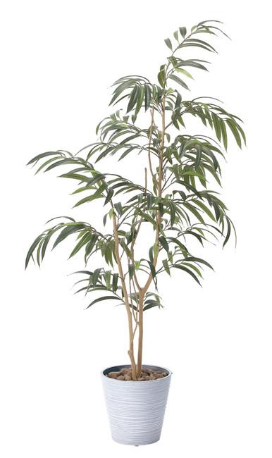 【送料無料】ウィービングフィカス (人工観葉植物) 高さ180cm 光触媒 (802A320)(店舗用品/光触媒 人工観葉植物・造花・フェイクグリーン/フロア(鉢型)用/165cm以上)
