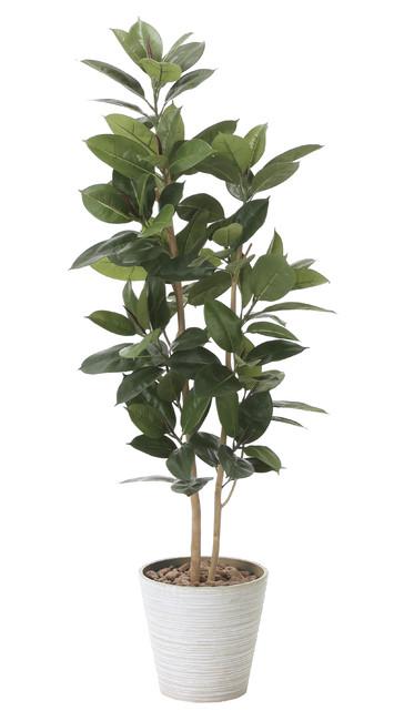 【送料無料】ゴムの木 (人工観葉植物) 高さ160cm 光触媒 (824A320)(店舗用品/光触媒 人工観葉植物・造花・フェイクグリーン/フロア(鉢型)用/125~160cm)