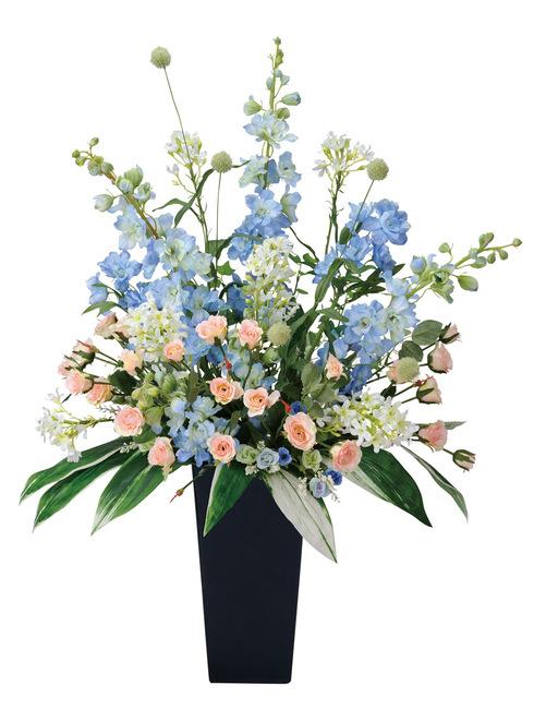 【送料無料】スイートブルー (造花) 高さ88cm 光触媒 (306A300)(店舗用品/光触媒 人工観葉植物・造花・フェイクグリーン/フロア(棚)向け)