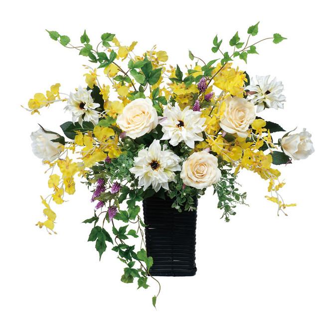 【送料無料】ツインソフトローズ (造花) 高さ52cm 光触媒 (538A120)(店舗用品/光触媒 人工観葉植物・造花・フェイクグリーン/フロア(棚)向け)