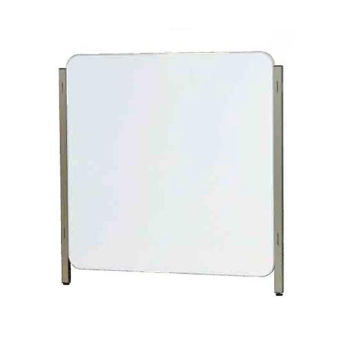 【送料無料♪】ボードパーティションR 両面ホワイトボード 板面寸法 W1200×H1200 (スタンド看板/展示システム・パーテーション/パーテーション本体)