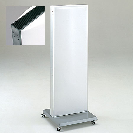 【送料無料♪】アルミ スタンドサイン ADO-700 ブラック 面板セット 50Hz(スタンド看板/電飾看板/蛍光灯タイプ/印刷シート貼込タイプ)