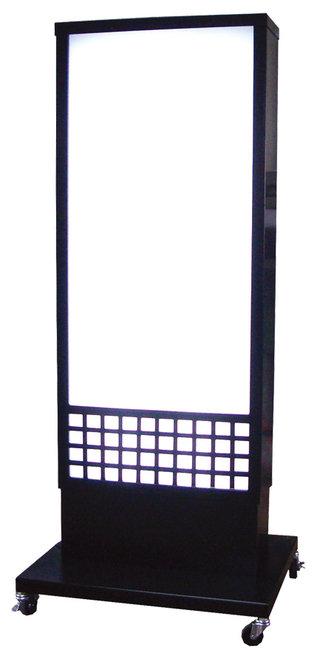 【送料無料♪】両面式格子状デザイン和風電飾看板 全高H1400タイプ (スタンド看板/和風タイプ)