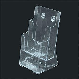 販促用品 カード立て カードスタンド 複数枚用ホルダー カタログケース T772 カタログスタンド スタンド看板 今季も再入荷 推奨 卓上タイプ A4三ツ折2段 マガジンラック