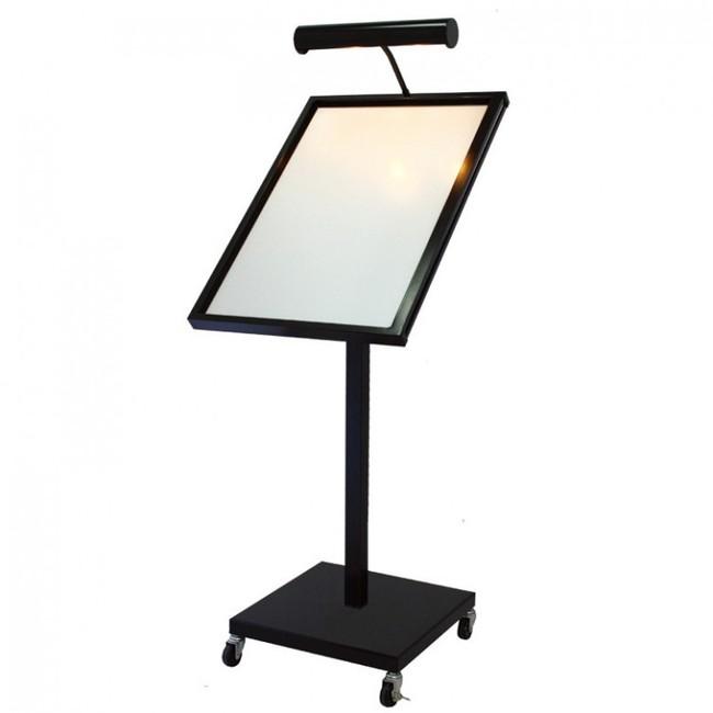 【送料無料♪】LEDメニューライトスタンド MLA2 種別:ブラック (スタンド看板/メニュースタンド看板/屋外用スタンド)
