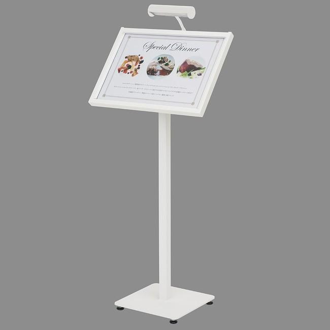 【送料無料♪】LEDメニューライトスタンド MLA3 カラー:ホワイト (スタンド看板/メニュースタンド看板/屋外用スタンド)