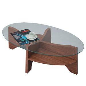 オーバルテーブル ウォールナット LE-454WAL(店舗用品/運営備品/ソファー・スツール)