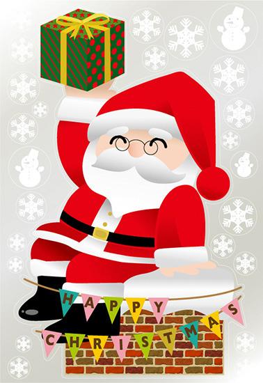 【送料無料♪】巨大ウィンドウシール1100mm×1600mm 両面印刷 クリスマス サンタ・煙突 (販促POP/店内ポップ/POPカード・POPシール/ウィンドウPOPシール)