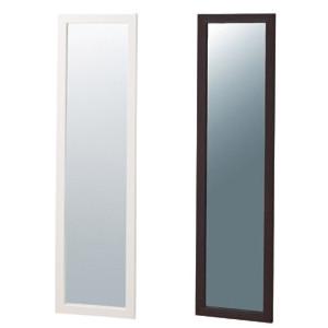 【送料無料♪】木製立掛けミラーホワイト(鏡厚5mm)(店舗用品/陳列什器/ミラー・姿見鏡スタンド)