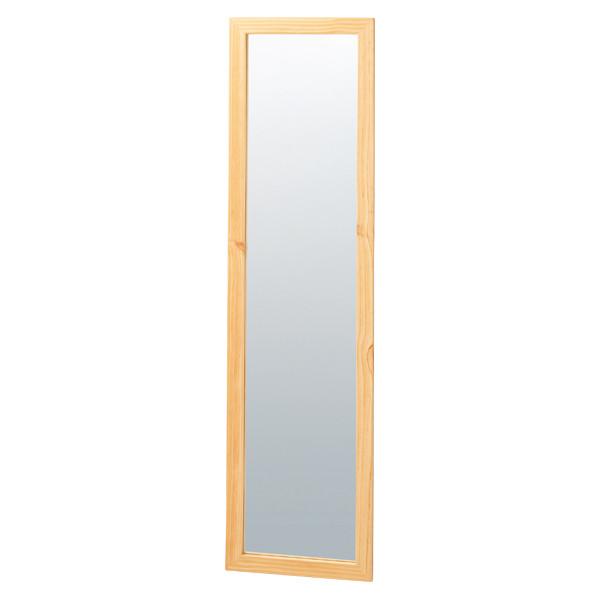 木製スリム立掛ミラー(鏡厚5mm)ナチュラル(店舗用品/陳列什器/ミラー・姿見鏡スタンド)