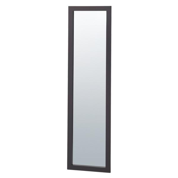 木製スリム立掛ミラー(鏡厚5mm)ダークブラウン(店舗用品/陳列什器/ミラー・姿見鏡スタンド)