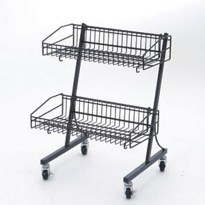 MDワゴン 黒3段タイプ(店舗用品/陳列什器/販売台・セールワゴン)