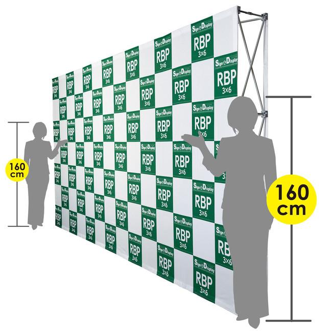 【送料無料♪】楽々!バックパネルスタンド(ウォールバナー) 3×6タイプ (27245) (スタンド看板/バナースタンド/展示会/セミナー会場/販促品/バックボード・インタビューボード)