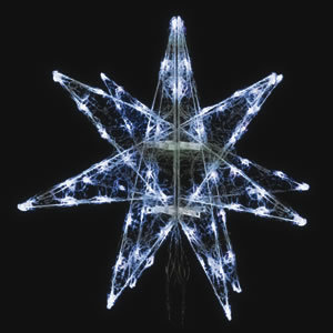【送料無料♪】LEDセパレーツギャラクシー 小 ホワイト 4枚羽(店舗用品/イルミネーションアイテム)