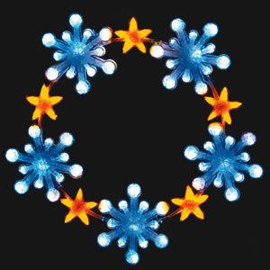 【送料無料♪】LEDクリスタルグロー スノースターリング ホワイト 小(店舗用品/イルミネーションアイテム)
