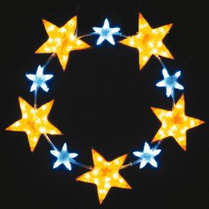 【送料無料♪】LEDクリスタルグロー スターリング イエロー 小(店舗用品/イルミネーションアイテム)