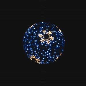 【送料無料♪】LEDティンセルボール スノーフレーク ブルー 大(店舗用品/イルミネーションアイテム)