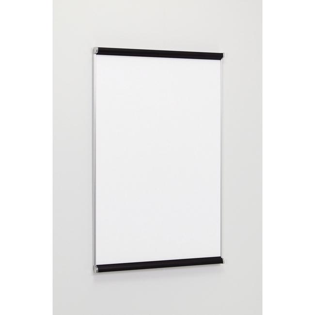 ポスターパネル3523 B1 屋内用 2辺開きタテ カラー:ブラック/サイドステン (ポスターフレーム/B1サイズ/前面開閉式(B1))