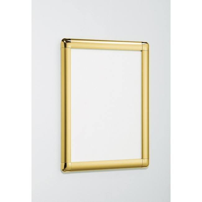 ポスターパネル338 A1 屋内用 4辺開きタテヨコ兼用 カラー:ゴールド (ポスターフレーム/A1サイズ/前面開閉式(A1))